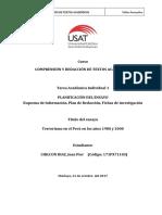 Terrorismo en El Perú en Los Años 1980 y 2000