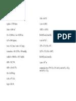 Tabela de conversões