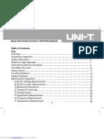 User Manual Multimeter Ut61a