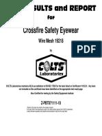 Certificacion Gafas de Malla
