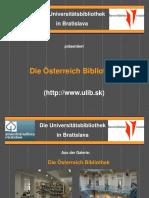 Osterreich Bibliothek Bratislava