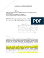 Saba, Roberto - Discriminación, Trato Igual e Inclusión