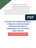 Curso 360 Online Gestão de Projetos Na Construção Civil