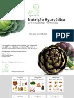 Lista-propriedades Dos Alimentos Ayurveda