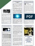 Triptico - Descubrimiento de La Composición Química de Las Estrellas