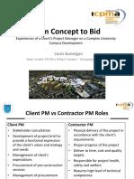 ICPMA From Concept to Bid