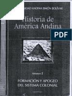 Universidad Andina Formacion y Apogeo Del Sistema Colonial