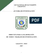Directiva de Investigacion
