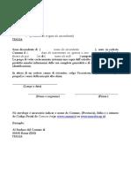 Richiesta Atto Nascita Comune - Mod.2