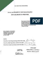 Nogueira, N.C. - Sexualidade e Socialização Em Gilberto Freyre [Dissertação Em História, UNICAMP]