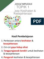 Kesihatan dan Kesejahteraan MPU3313 TOPIK_1