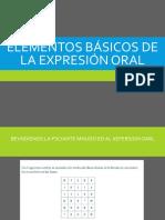 1. Elementos Básicos de La Expresión Oral