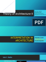Lec 01 - Interpretation in Architecture