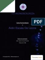 Estudio Numerológico de Aida Escala de Leone
