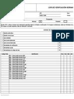 Formulario Lista de Verificación Herramientas Manuales