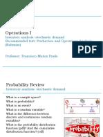 05 OPERATIONS I - Inventory Analysis Stochastic Demand - Francisco Muñoz Prado