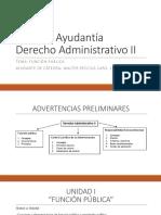 Primera Ayudantía Derecho Administrativo II