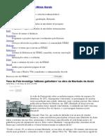 Notícias Da UFMG - Tese Da Fale Investiga 'Niilismo Galhofeiro' Na Obra de Machado de Assis