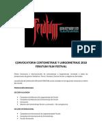 Convocatoria Cortometraje y Largometraje 2018 Feratum Film Festival