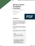Windows Speech Recognition Commands - Windows Help
