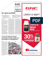 2016 02 16 - La Tercera - Alcaldes piden mayor fiscalización a calidad de agua potable