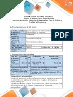 Guía de Actividades y Rúbrica de Evaluación - Fase 2 - Definir y Analizar El Problema