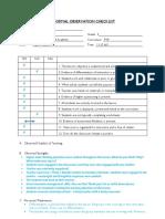 observation report 2 dr
