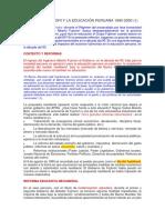 Fujimori y La Educación Peruana