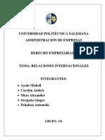 TÍTULO VIII. Relaciones Internacionales