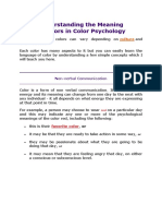 Understanding the Meaning of COLOUR