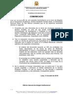 Comunicado 00x - V0