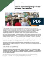 Estimular Processo de Aprendizagem Na Infância-Escola Da Inteligência