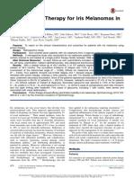 Proton Beam Therapy for Iris Melanomas in 107 Patients