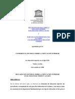 DECLARACION MUNDIAL SOBRE LA EDUCACION SUPERIOR EN EL SIGLO XXI.pdf