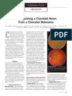 Distinguishing a Choroidal Nevus From a Choroidal Melanoma PDF