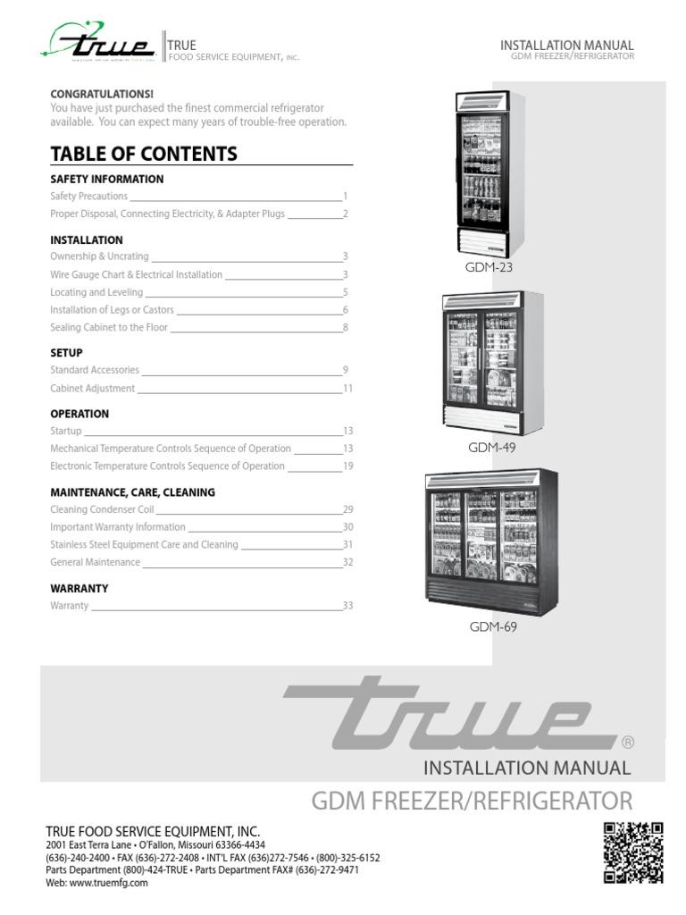 True Gdm 69 Cooler Wiring Diagram Schematics 49f 15rf Refrigerator Building Engineering Compressor Relay