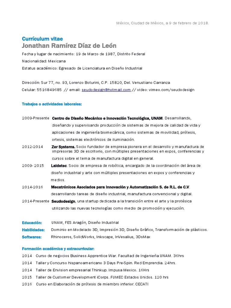 Jonathan Ramirez CV