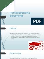 Trombocitopenia autoimuna-Sirbu Ion.pptx