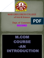 M. COM  course in MGC