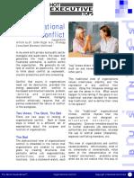 Organizational Conflict - HOT EXECUTIVE TOPS