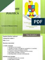 Curs 1 - Economie Politica