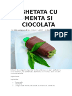 Inghetata Cu Menta Si Ciocolata