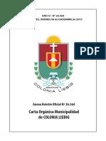 Carta Organica Colonia Liebig (Corrientes) 2013