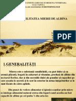 trasabilitatea mierii de albina