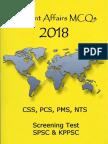 Current Affairs 2018 MCQs