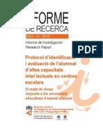Protocol d'Identificació i Avaluació de l'Alumnat d'Altes Capacitats