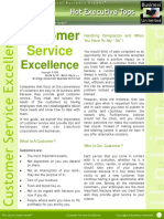 Customer Service Excellence - HOT EXECUTIVE TOPS