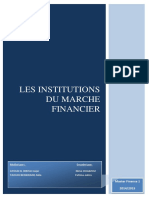Les Institutions Du Marché FINANCIER