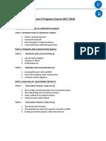 Program Finance II_course2017-18