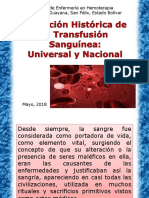 Historia de La Transfusion Sanguinea